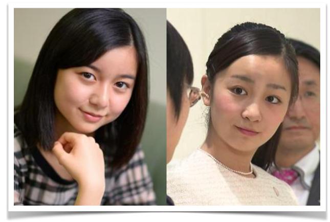 左が上白石萌歌さんで、右が佳子様ですね。