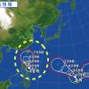 台風10号2015年進路を米軍最新情報から予想!9号とダブルで上陸か?